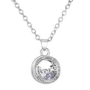 18K♠️+ Swarovski Diamonds Love Necklace